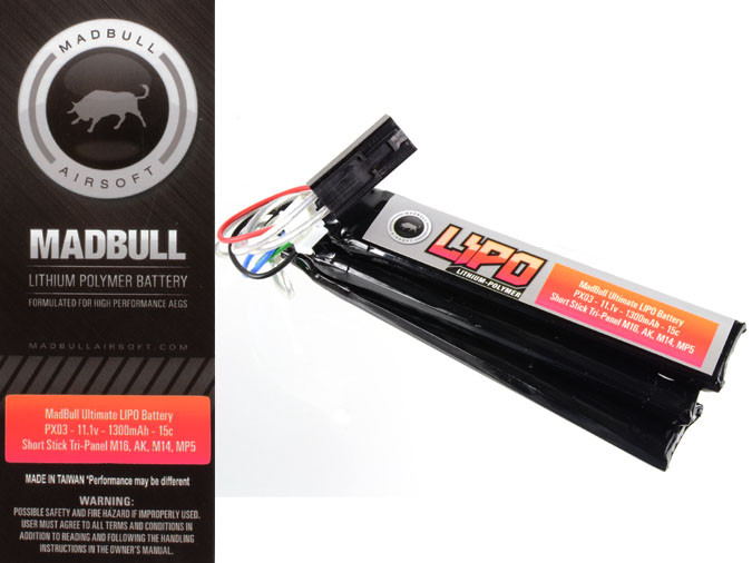Ultimate PX-03 LIPO Battery Tri-Panel 11.1V 1300mAh CE certified
