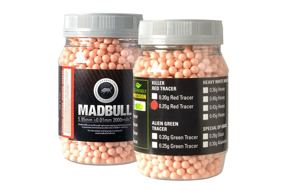 MadBull 0.25g RED Tracer BBs x2000
