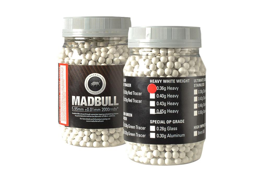MadBull 0.36g Heavy White BBs x2000