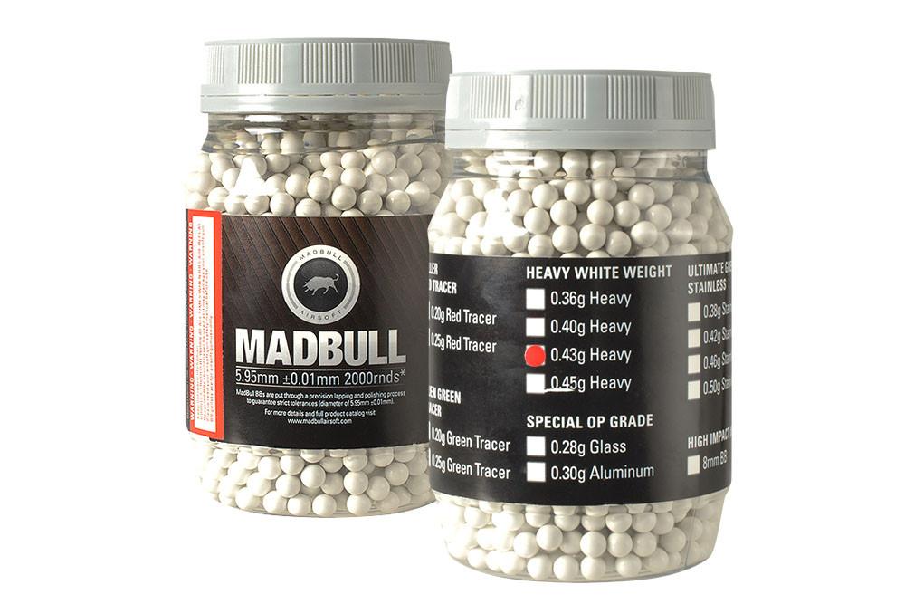 MadBull 0.43g Heavy White BBs x2000