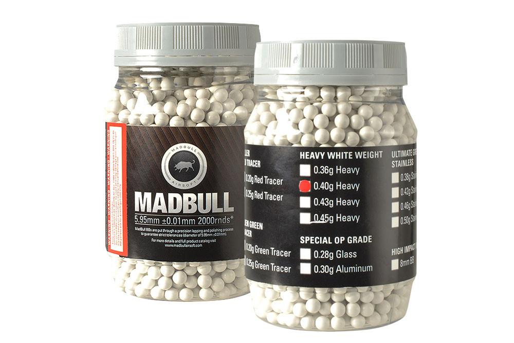 MadBull 0.4g Heavy White BBs x2000