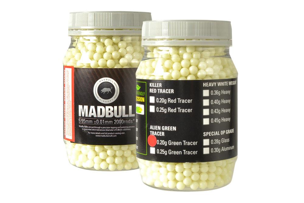MadBull 0.20g Green Tracer BBs x2000