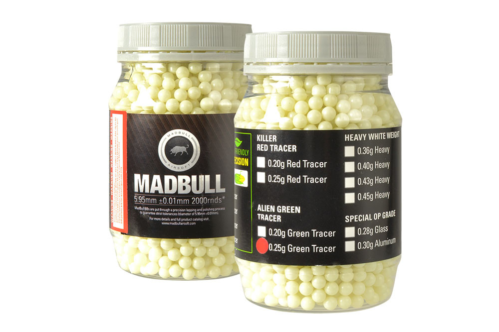MadBull 0.25g Green Tracer BBs x2000
