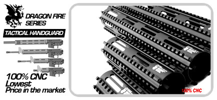 Dragon Fire 100% CNC Handguard Rail 12.5 inch