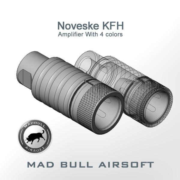 Noveske KFH ADJUSTABLE AMPLIFIER FLASH HIDER (Silver)