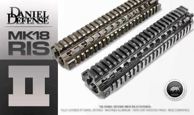 """Daniel Defense DD Lite Rail MK18RIS II 9.5"""" Black for Airsoft"""