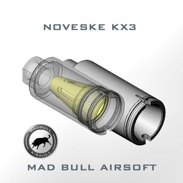 Noveske KX3 ADJUSTABLE AMPLIFIER FLASH HIDER (Black) 14mm CW (+)