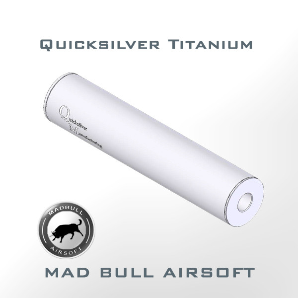 Quicksilver Toy Silencer and Aluminum Tube (Shiny Silver)