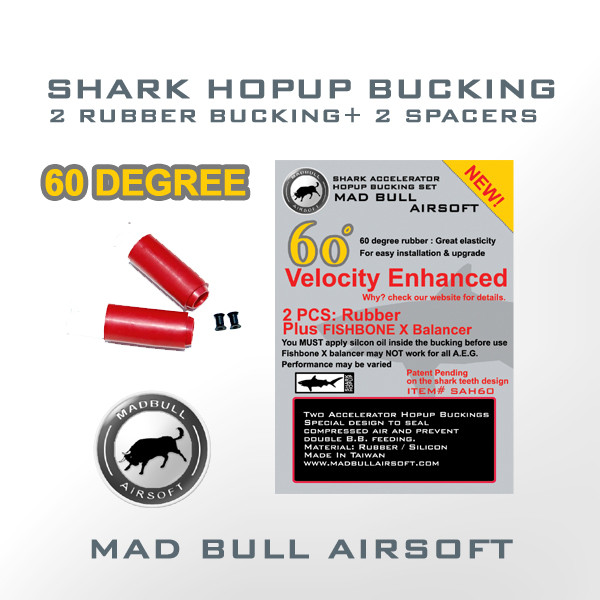 60 Degree Shark Hopup Bucking x2 + Fishbone Spacer x2