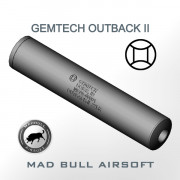 Gemtech Outback Toy Silencer and Aluminum Tube - Black