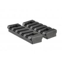 2pcs Polymer 5 Slot KeyMod Short Rail Section