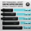 """Surefire Airsoft suppressor FA556 212 6"""" [Discontinued]"""