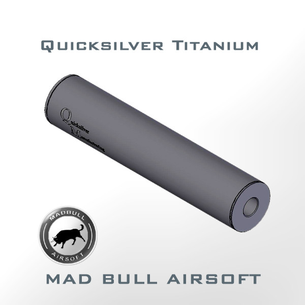 Quicksilver Toy Silencer and Aluminum Tube (Black)