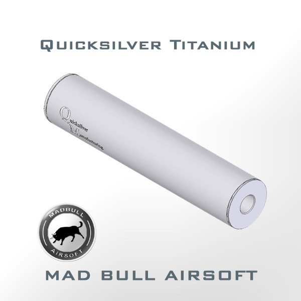 Quicksilver Toy Silencer and Aluminum Tube (Matte Silver)